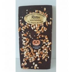 Tablette chocolat noir aux brisures de bretzels 100gr