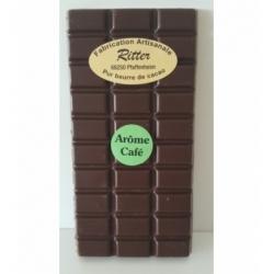 Tablette chocolat noir arôme café 100gr