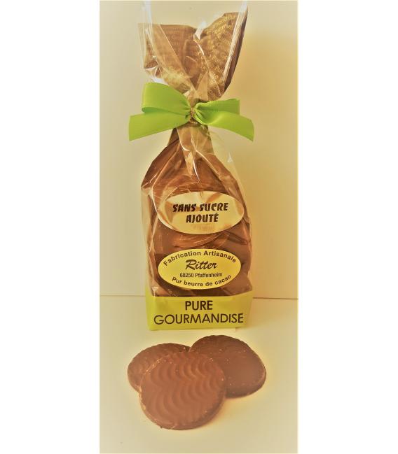 Palets chocolat noir sans sucre ajouté 150gr